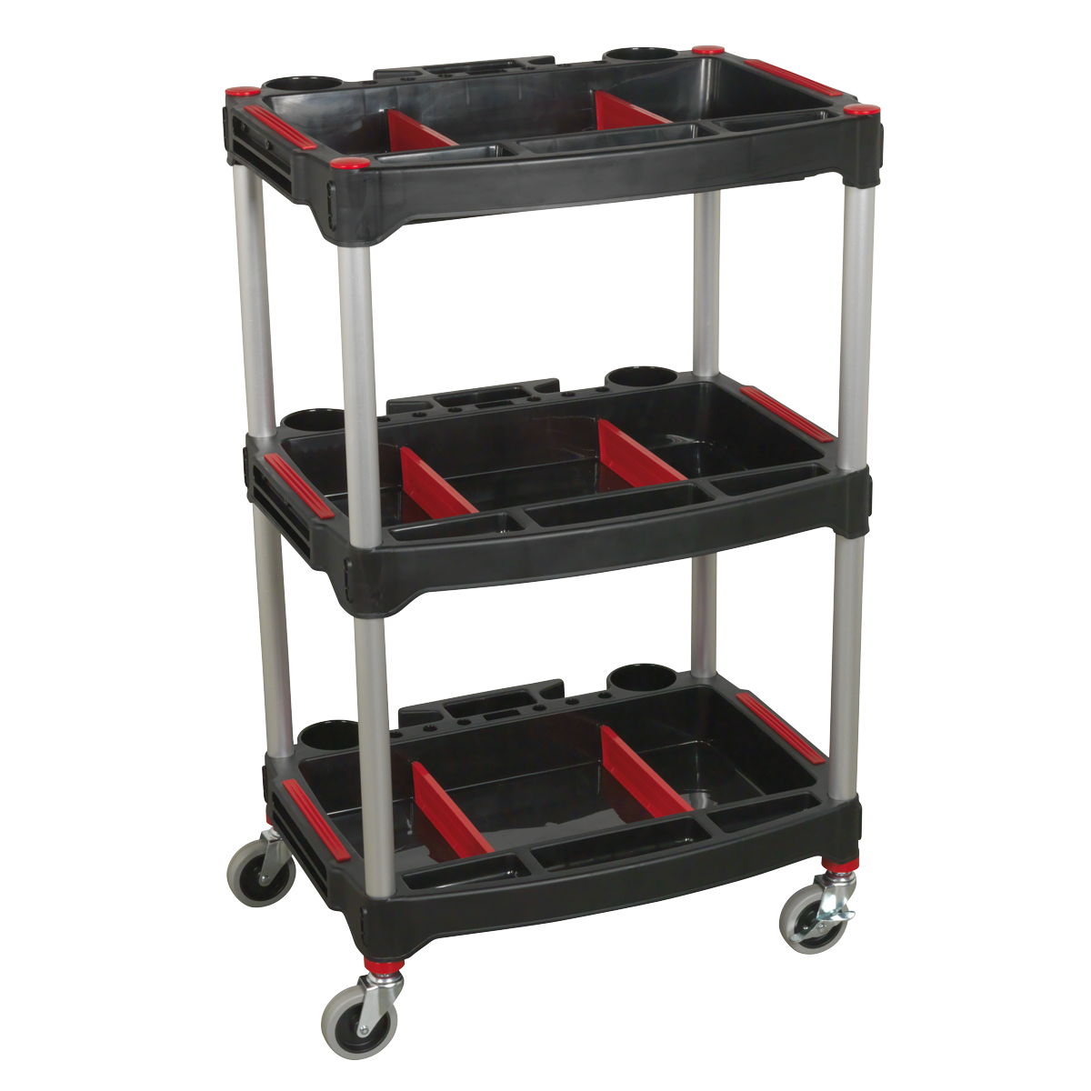 SEALEY Workshop Trolley 3 Level Composite With Parts Storage
