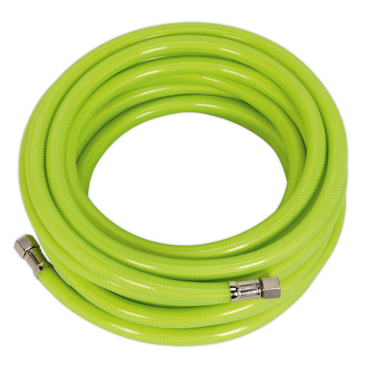 "SEALEY AIR HOSE HIGH VIS 10m x Ø8mm with 1/4""BSP Unions"