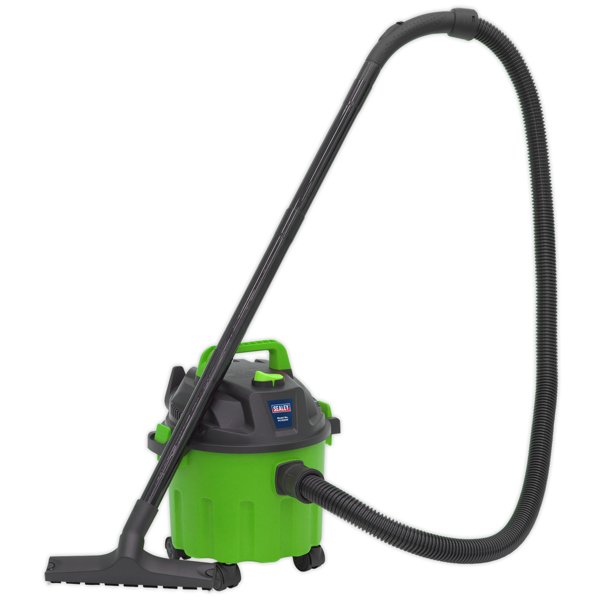 SEALEY VACUUM CLEANER WET/DRY 10L 1000W/230V - Hi-Vis Green