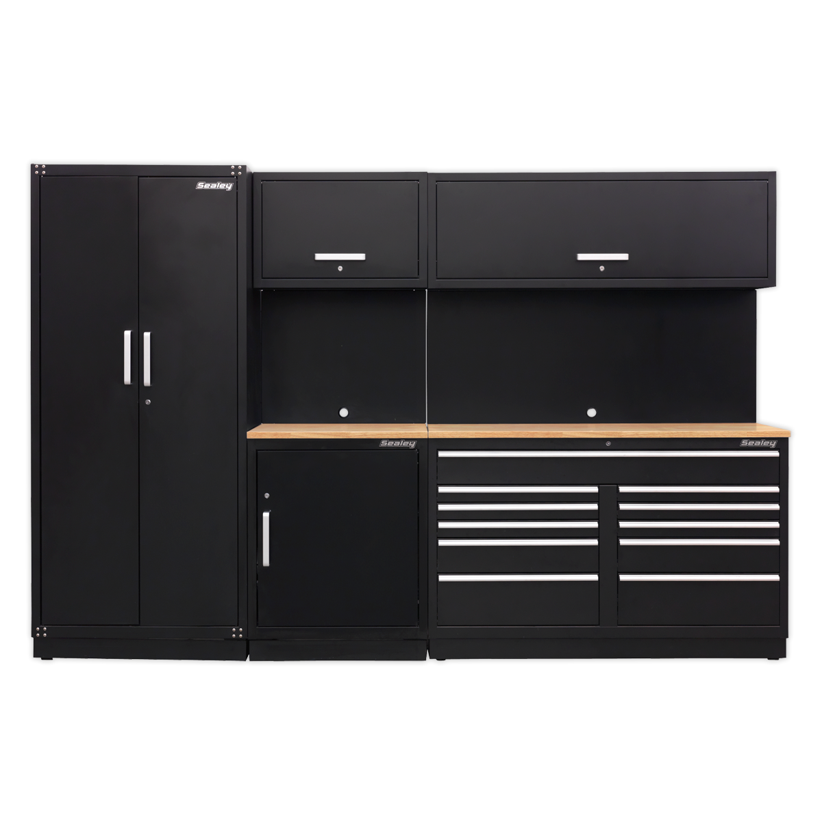 SEALEY MODULAR STORAGE SYSTEM SYSTEM COMBO - OAK WORKTOP