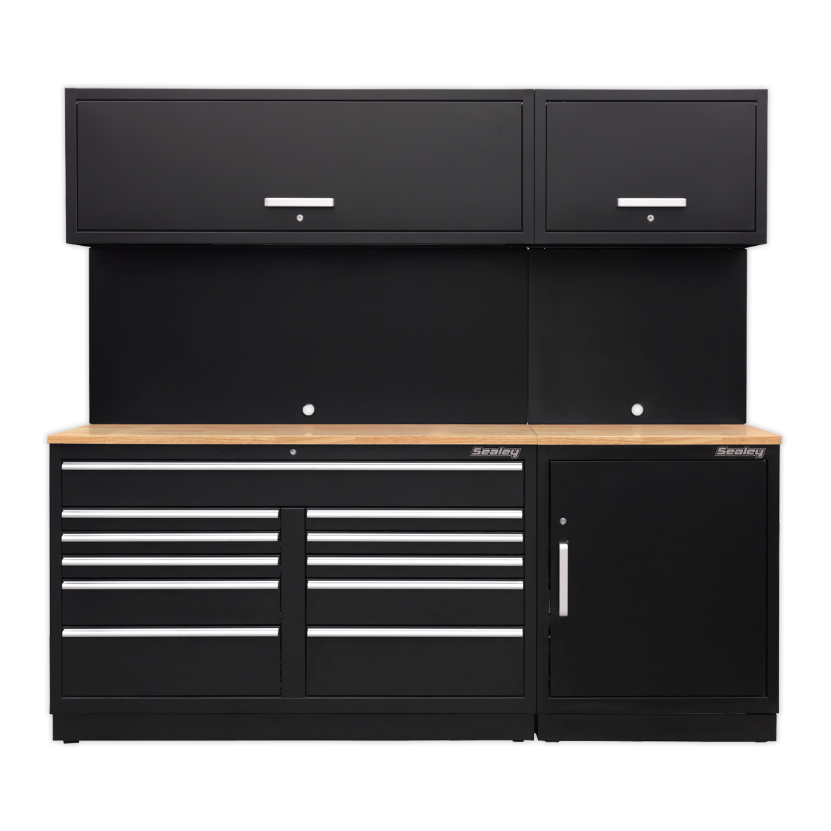 SEALEY MODULAR STORAGE SYSTEM COMBO - OAK WORKTOP -