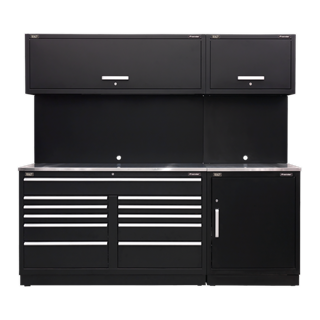 SEALEY MODULAR STORAGE SYSTEM COMBO - STAINLESS SYSTEM - STAINLESS STEEL WORKTOP