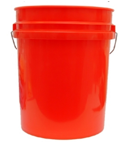 GRIT GUARD BUCKET ONLY) 5 GALLON RED WHITE BLACK BLUE