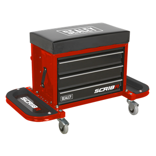 SEALEY Mechanic's Utility Seat & Toolbox