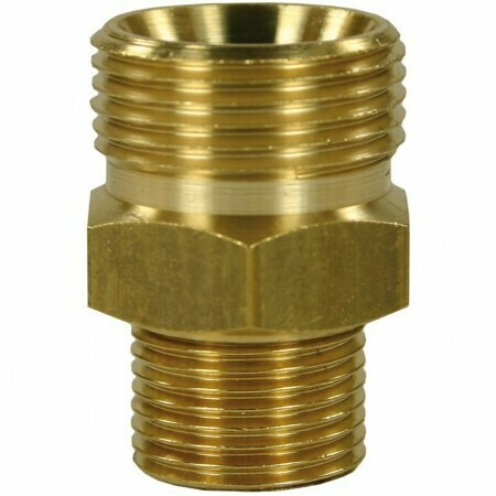 "Male to Male Brass Quick Screw Nipple - M22 M to 3/8""M with AGR cone"