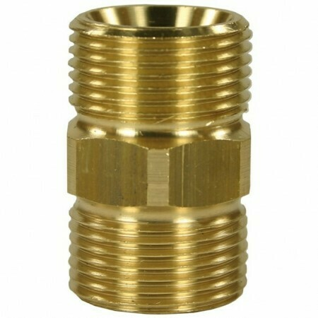 MALE TO MALE BRASS HOSE CONNECTOR ADAPTOR-M22 M to M22 M