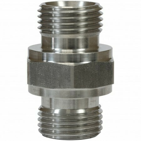 """MALE TO MALE STAINLESS STEEL DOUBLE NIPPLE ADAPTOR-3/8""""M to 3/8""""M"""