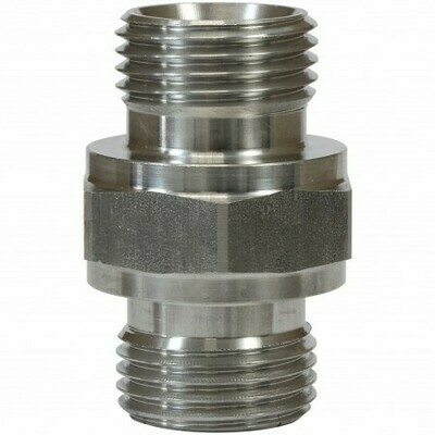 MALE TO MALE STAINLESS STEEL DOUBLE NIPPLE ADAPTOR-3/8
