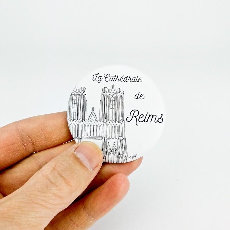 Magnet décapsuleur : La cathédrale de Reims