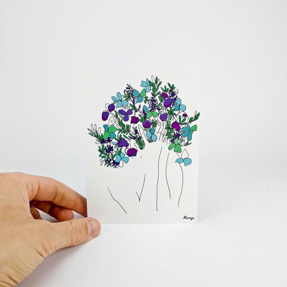 La tête dans les fleurs
