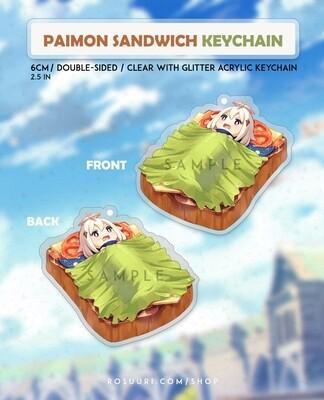 Paimon Sandwich Keychain