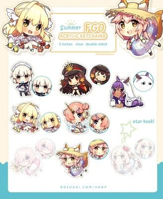 Fate/GO Summer Keychains