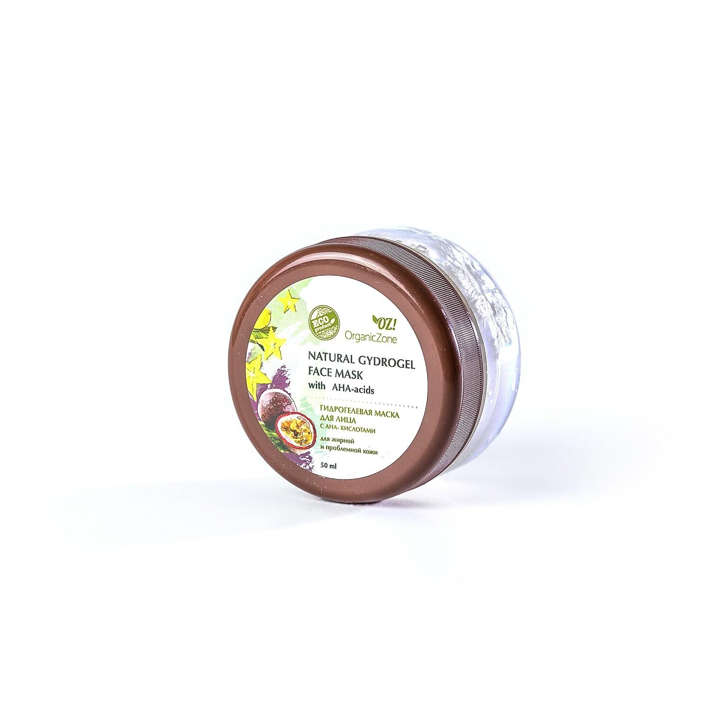 Гидрогелевая маска для лица с АНА-кислотами для жирной и проблемной кожи OZ! OrganicZone