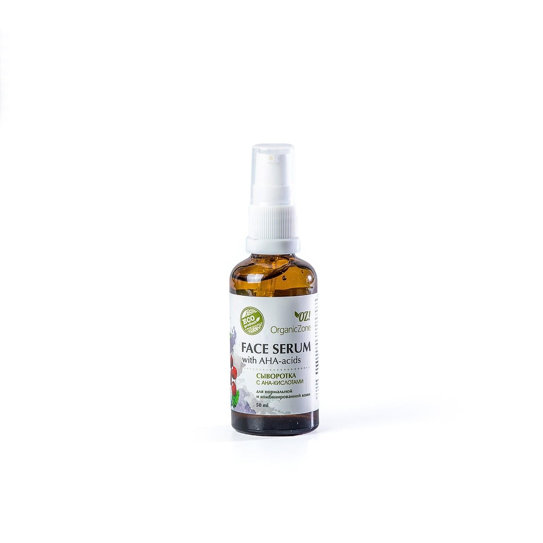 Сыворотка для лица с АНА-кислотами для нормальной и смешанной кожи OZ! OrganicZone