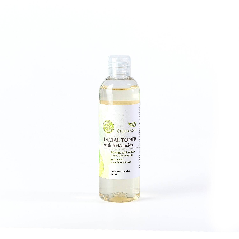 Тоник для лица с АНА-кислотами для жирной и проблемной кожи OZ! OrganicZone