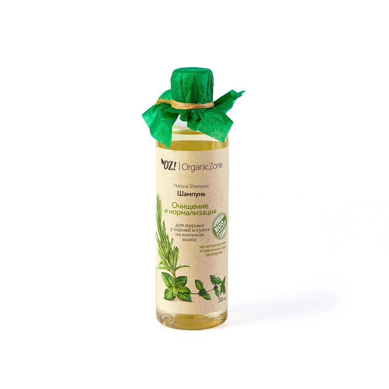 """Шампунь для жирных у корней у сухих на кончиках волос """"Очищение и нормализация"""" OZ! OrganicZone"""