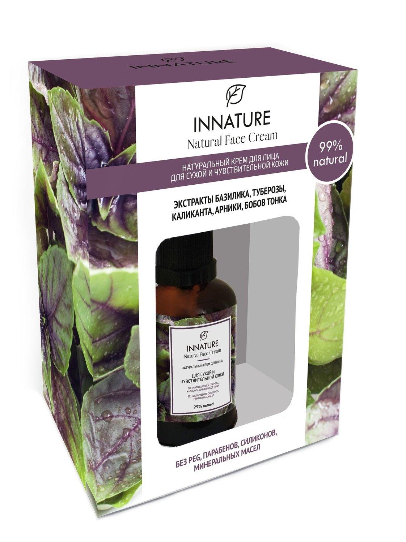 Натуральный крем для лица для сухой и чувствительной кожи  INNATURE