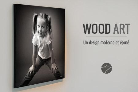 Carte cadeau pour un portrait en WOODART 40x40