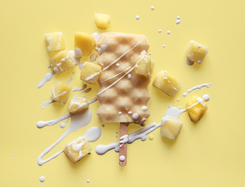 Box of 12 Pineapple Coconut Kombucha Popsicles