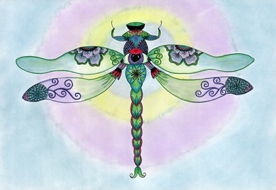 Dragonfly Notecard Collection - Set of 6 Large Notecards