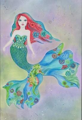 Mermaid 'Tessa' Notecard Individual Large Notecard
