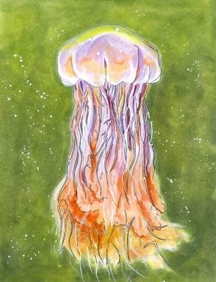 Lion's Mane Jellyfish Individual Notecard