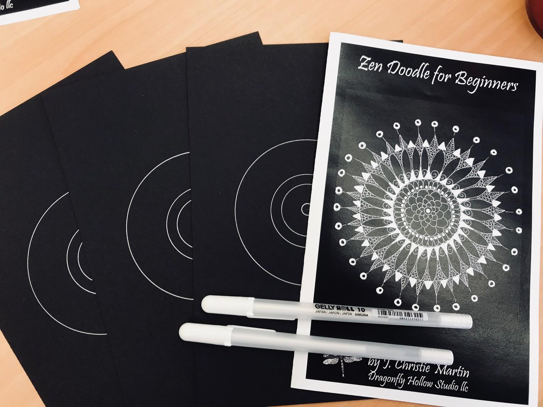 Zen Doodle Kit for Beginners - Mandala Style