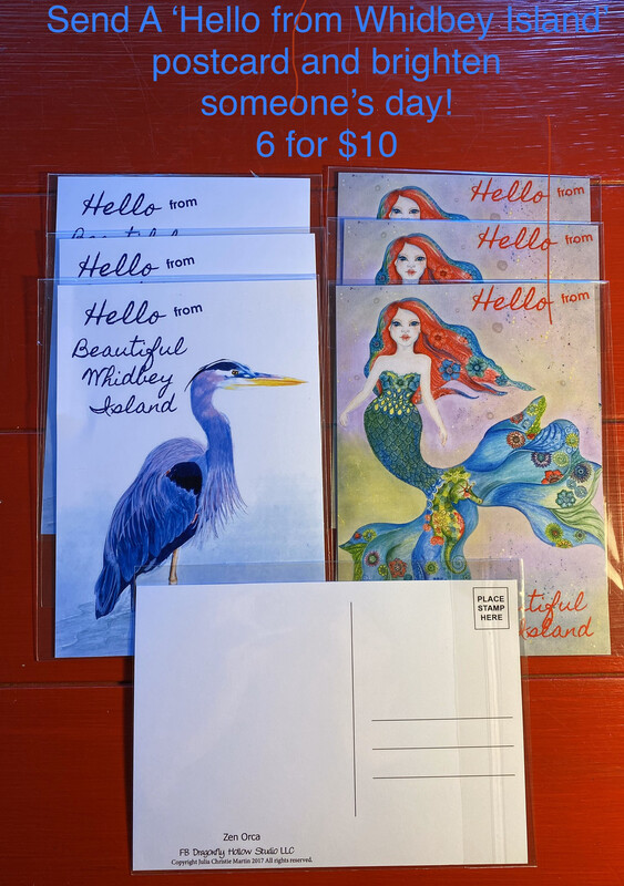 'Hello From Whidbey Island' Postcards - Set Of 6