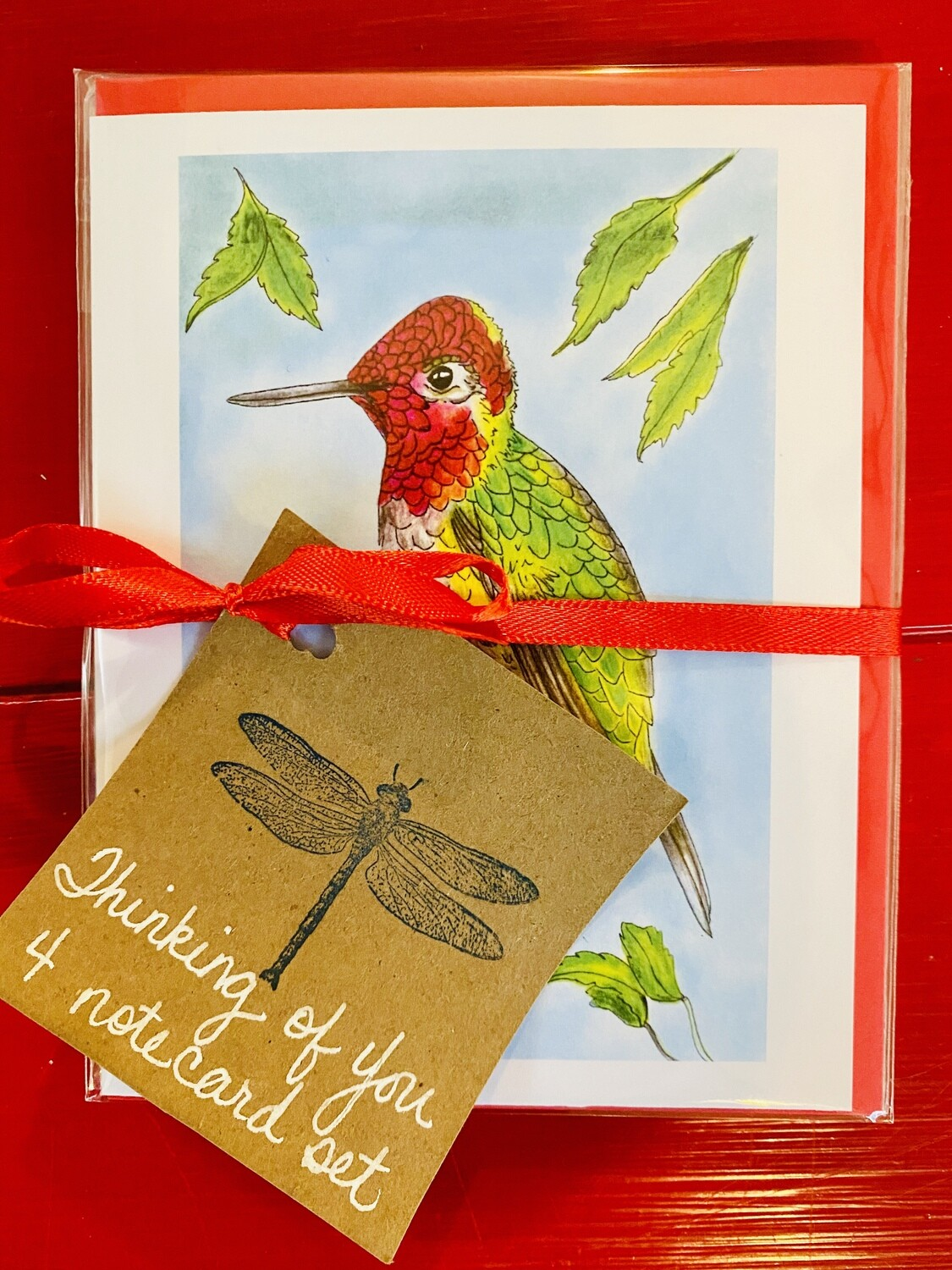 Thinking of You- Bird Lover 4 Assorted Notecards