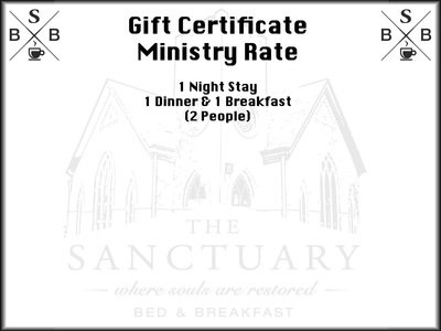 Gift Certificate - Ministry Rate (Available for people involved in full time ministry)