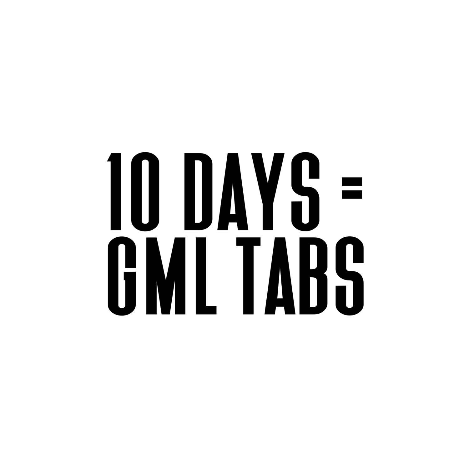 (GML) 7/10 Day Tablets