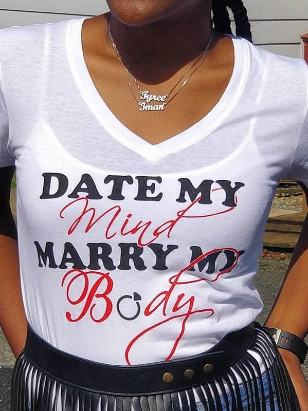 Date My Mind Female T-Shirt