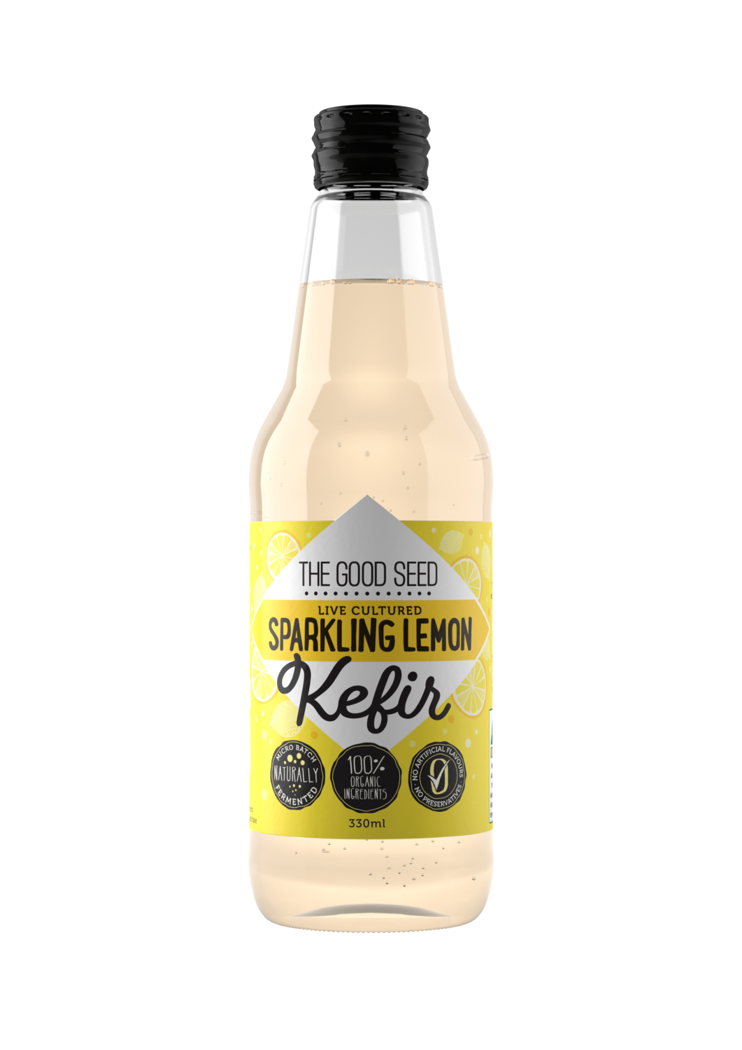 12 x 330ml Sparkling Lemon Probiotic, Water Kefir