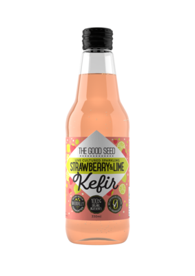12 x 330ml Sparkling Strawberry & Lime Probiotic, Water Kefir