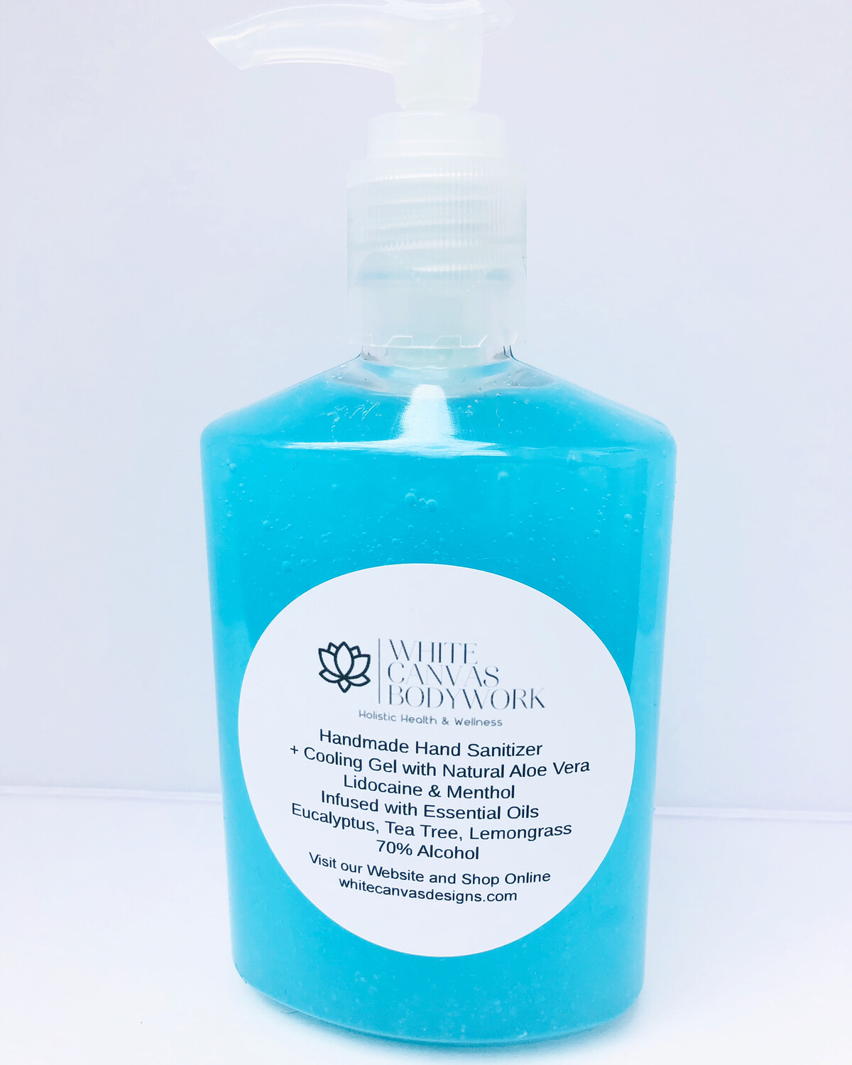 Handmade Hand Sanitizer + Cooling Gel& Menthol Infused with Essential Oils