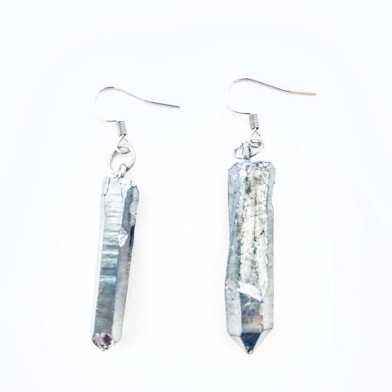 Titanium Quartz Earrings