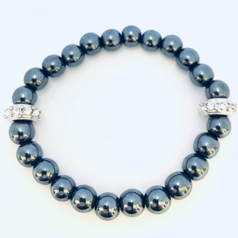 "Aspire"" Wellness Collection All Natural Hematite Bracelet"