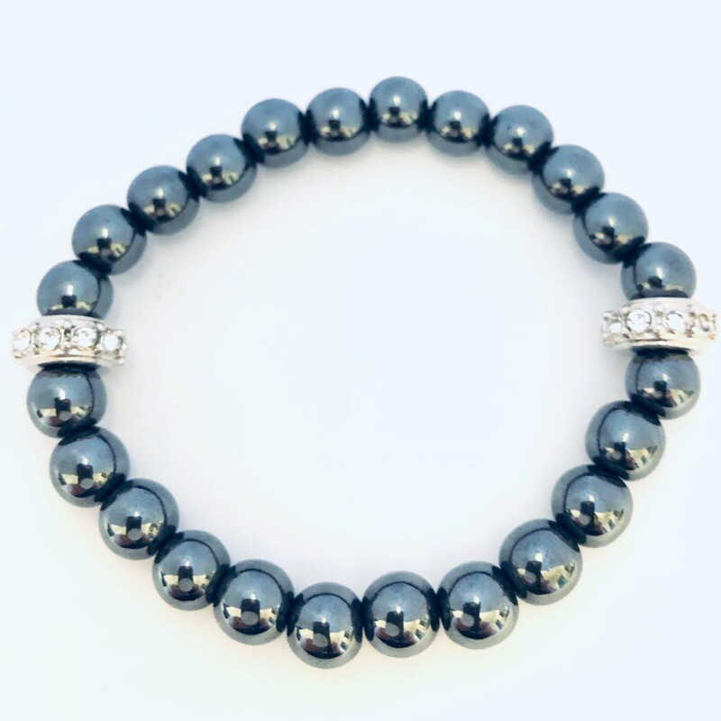 "Aspire"" Wellness Collection All Natural Hematite Bracelet"