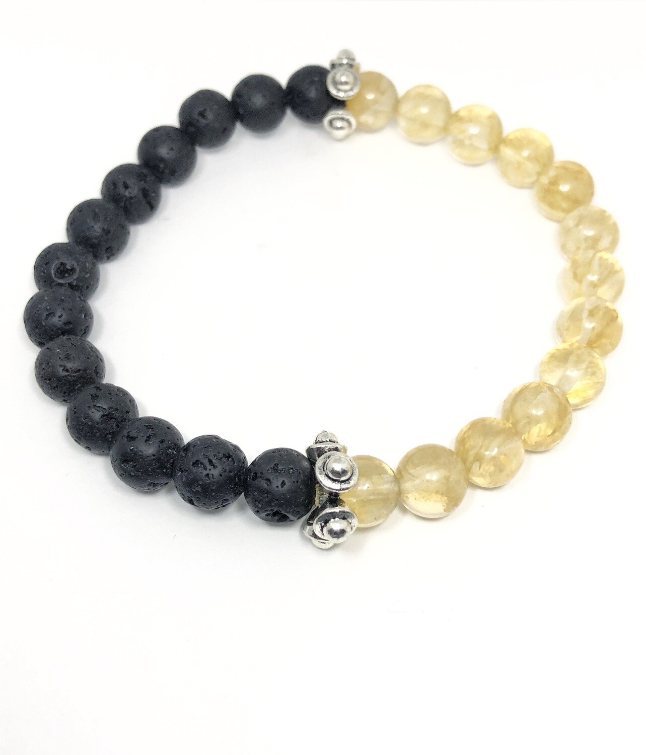 D' Colores Collection  Natural Citrine & Lava Rock