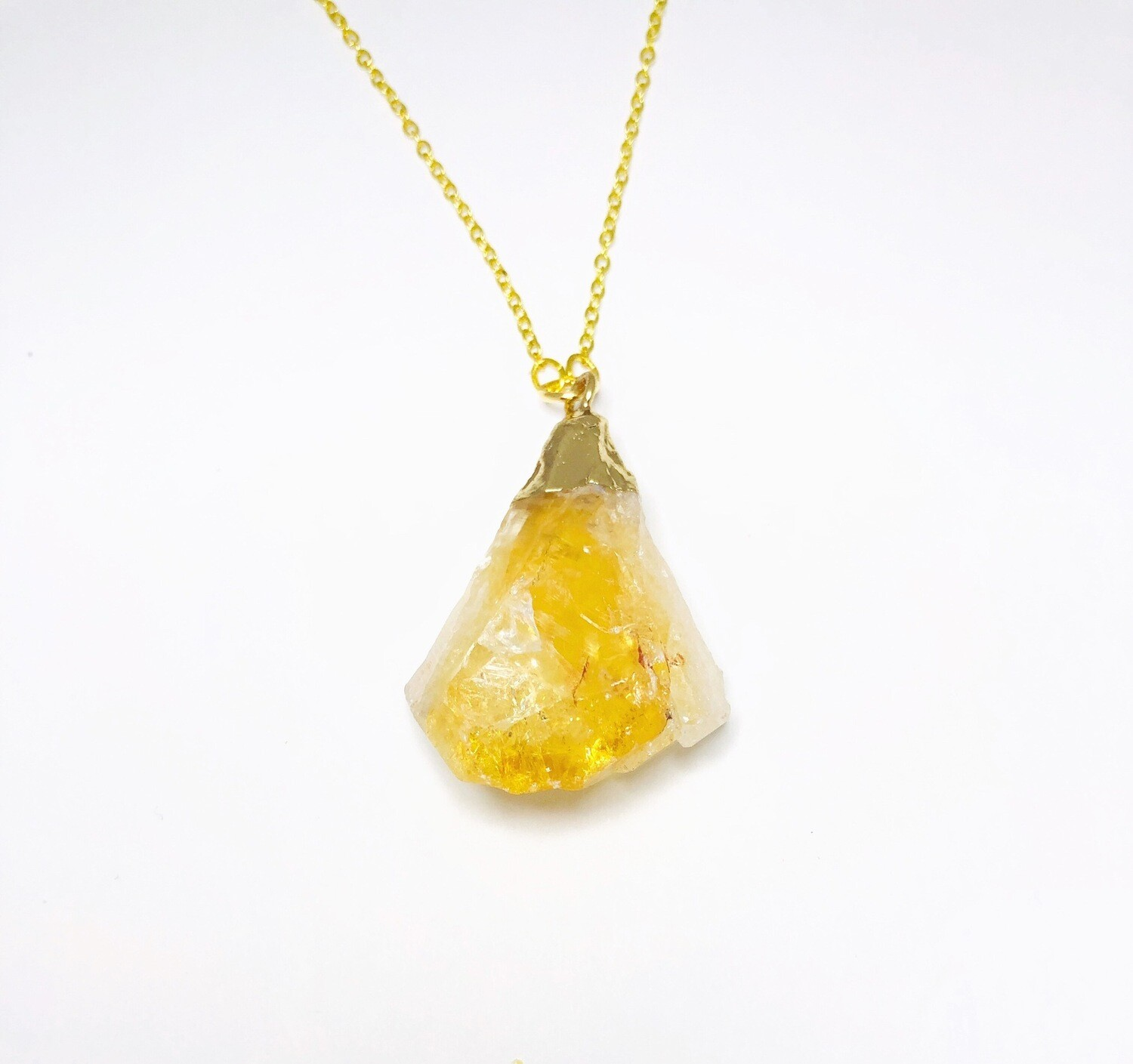 Rock Your World ' Collection Natural Citrine Necklace