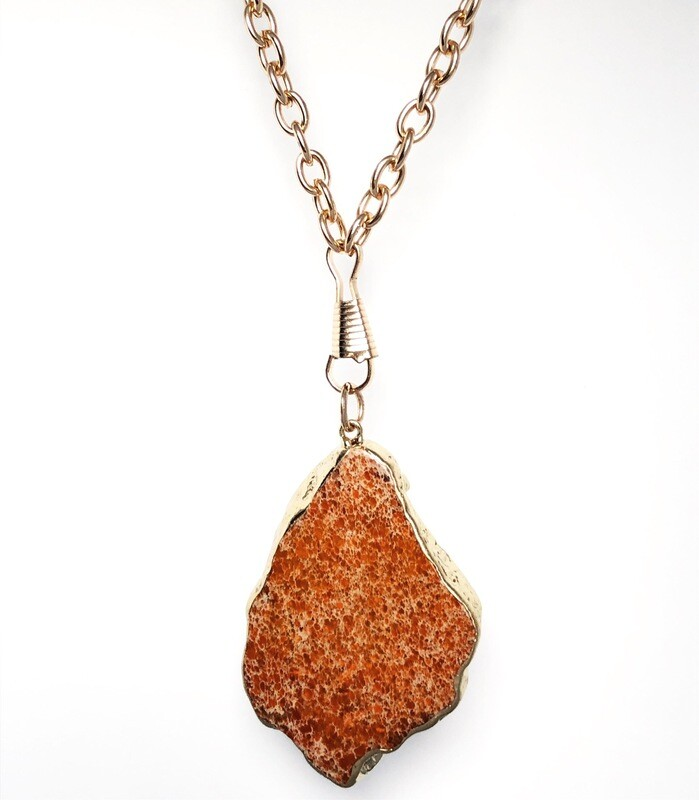 'Rock Your World'  Collection  Red Jasper Necklace