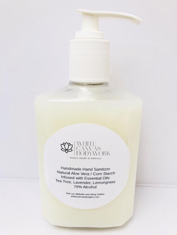 Handmade Immune Boost/Antibacterial  Hand Sanitizer With Natural Aloe Vera & Corn Starch. Infused With Antibacterial & Immune Boosting Essential Oils.