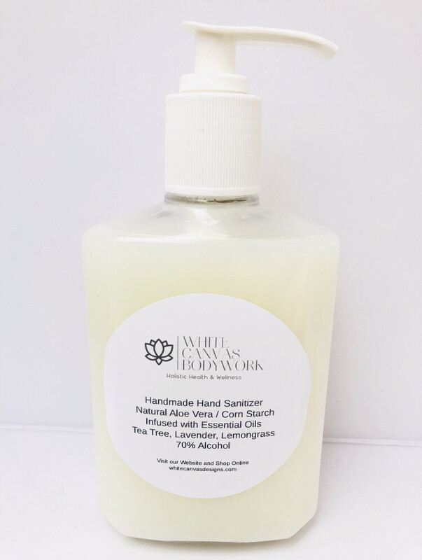 Handmade Immune Boost/Antibacterial Hand Sanitizer With Natural Aloe Vera & Corn Starch. Infused With Antibacterial & Immune Boosting Essential Oils Blend.