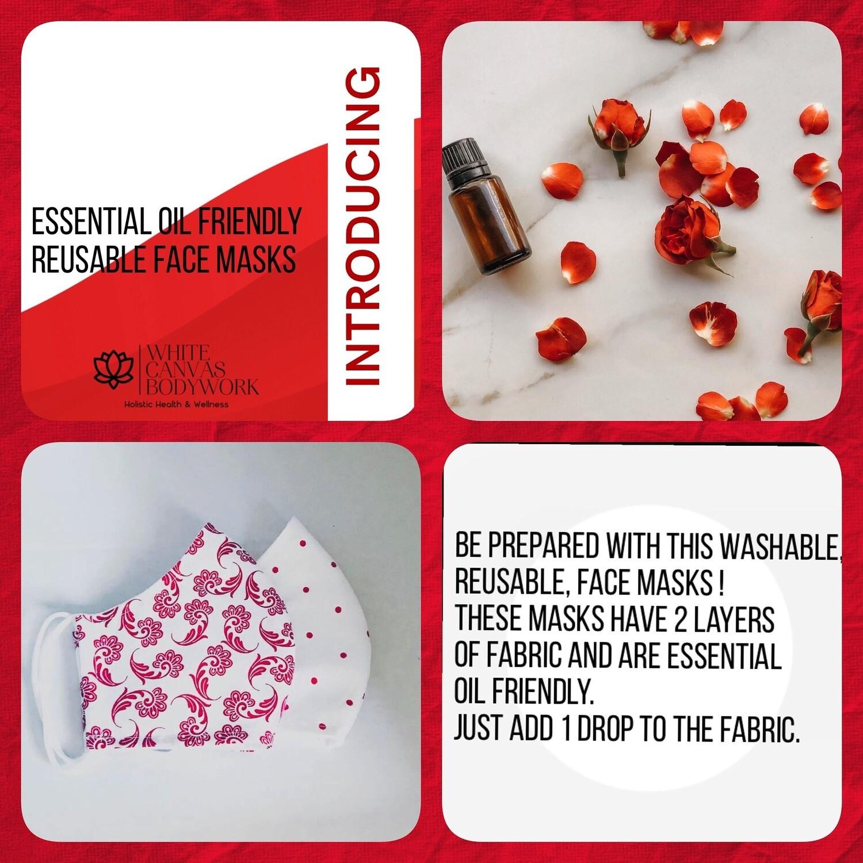 Essential Oil Friendly Reusable Face Masks