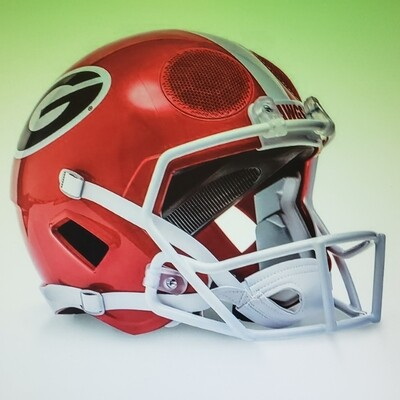 GEORGIA BULLDOG BLUETOOTH HELMET