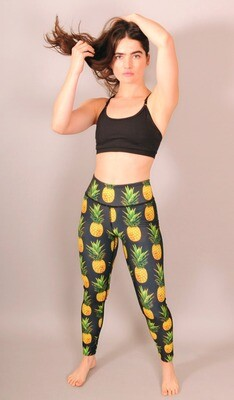 Reversible Pineapple/Tie-Dye Power Leggings