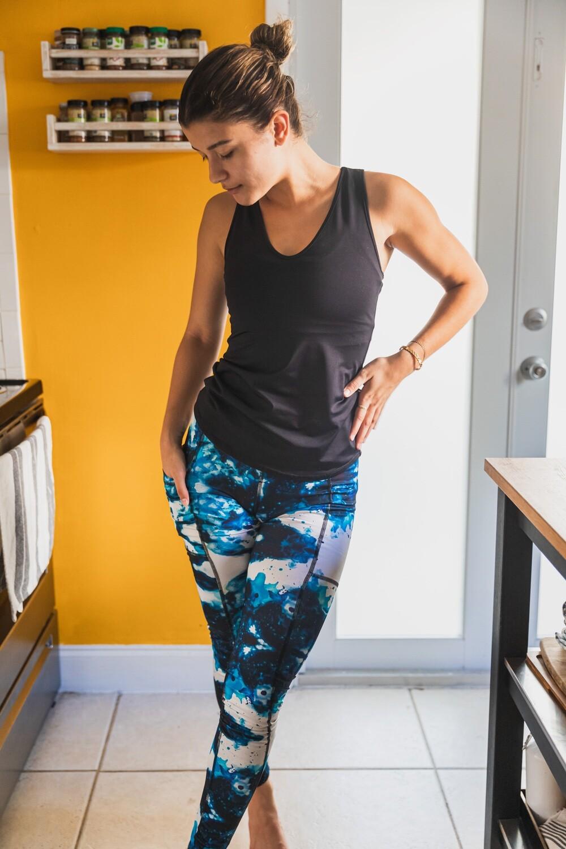 Ultra High-Waist Reversible Chakra Leggings: Third Eye & Crown