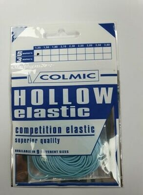 Hollow elastiek Blue 1,2 mm