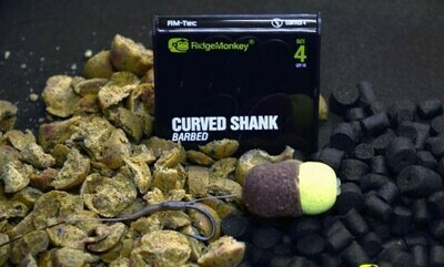 CURVED BARBED HOOK SIZE 8