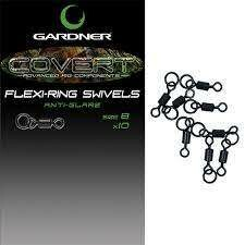 COVERT FLEXI-RING SWIVELS SIZE 8 ANTI GLARE